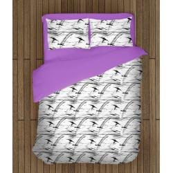 Стилно олекотено спално бельо със завивка Следи - Scratches