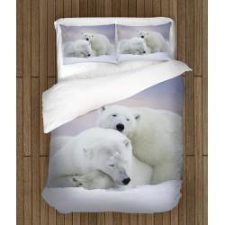 3D спален комплект Бели мечки - White Bears
