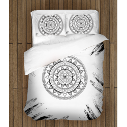 Спално бельо Черно-бяла Мандала - Black&White Mandala