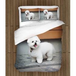Сладък спален комплект с Болонка - Bolognese dog
