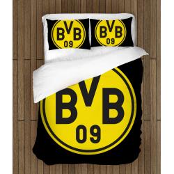 Футболно спално бельо със завивка 3D Дортмунд - Dortmund
