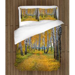 Спално бельо със заввика Брези през есента - Birch in autumn