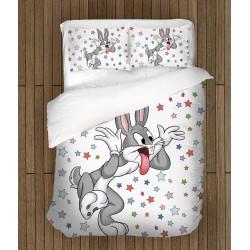 Спален комплект за деца с анимационни герои Бъгс Бъни - Bugs Bunny