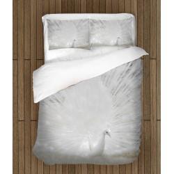 Спален комплект за легло Бял паун - White Peacock