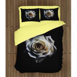 Спално бельо със завивка 3D Бяла роза - White Rose