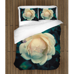 Романтично спално бельо със завивка Бяла роза - White Rose
