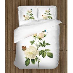 Чаршафи Бяла роза с пеперуди - White Rose And Butterflies