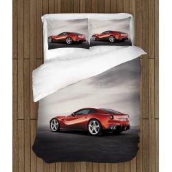 Спално бельо 3D със завивка Червено Ферари - Red Ferrari