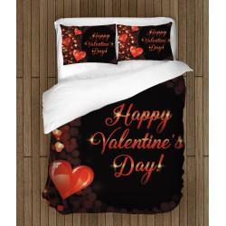 Романтичен спален комплект Честит свети Валентин - Happy Valentine Day