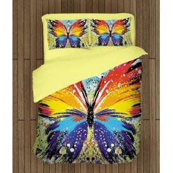 Арт спално бельо Цветна пеперуда - Jazzy butterfly