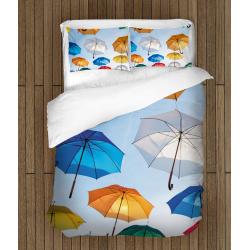Спално бельо 3D със завивка Цветни чадъри - Color Umbreallas