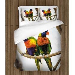 3D спално бельо Цветни папагали - Colorful Parrots