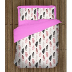 Арт спален комплект Цветни пера - Colorful Feather