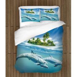 Летен спален комплект Делфини - Dolphins