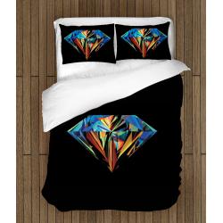 Спално бельо със завивка 3D Диамант - Diamond