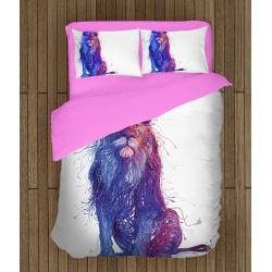 Спално бельо със завивка 3D Дигитален арт лъв - Digital Art Lion