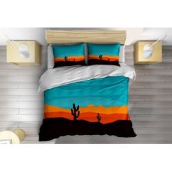 Абстрактно спално бельо 3D Кактус - Cactus