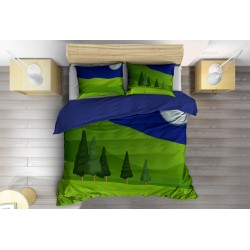 Спално бельо Арт 3D Гора - Digital Wood