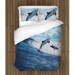 Спално бельо със завивка делфини - Dolphins Dance