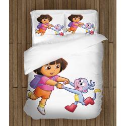 Забавно детско спално бельо Дора и маймунка - Dora and Monkey