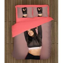 3D спално бельо Дуа Липа в розово - Dua Lipa Pink