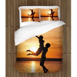 Романтичeн комплект чаршафи Влюбени на плажа - Couple On The Beach