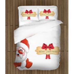Детско спално бельо с дядо Коледа Честита Коледа - Merry Christmas