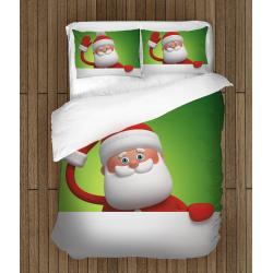Детско коледно спално бельо Дядо Мраз - Santa Claus