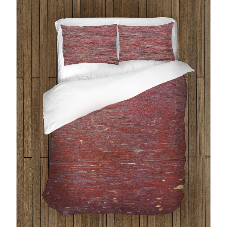 Чаршафи за легло Дърво в бургунди - Wood in Burgundy