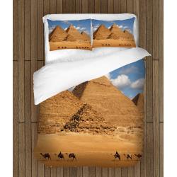 Спално бельо 3D със завивка Египетски пирамиди - Egypt Pyramyds