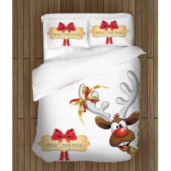 Спален комплект с еленче Честита Коледа - Merry Christmas