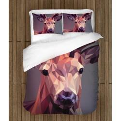 Спално бельо с животни Елен геометрия - Deer Geometric