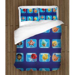 Комплект спално бельо със завивка с Емотикони - Emoticons