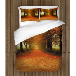 Есенен комплект сас зъвивка спално бельо Пътека - Path