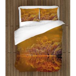 Нежно спално бельо със завивка Есенно спокойствие - Autumn calm