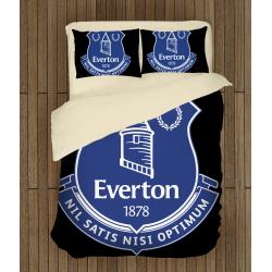 Футболно спално бельо със завивка 3D Евертън - Everton