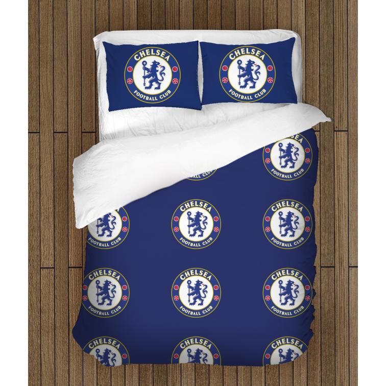 Футболно спално бельо със завивка 3D Челси - Chelsea