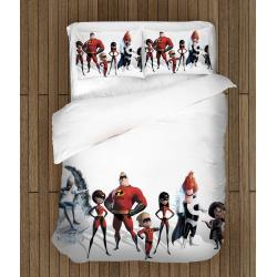 Детско спално бельо със завивка Феноменалните - Incredibles