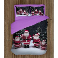 Коледно спално бельо със завивка Фигурки на дядо Коледа - Santa Claus Figurines