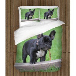 Уникално спално бельо Френски булдог в тревата - French Bulldog Grass