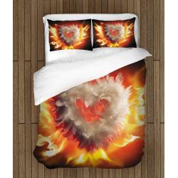 Страстно спално бельо Горящо сърце - Burning heart