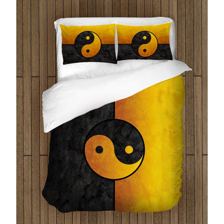 Спално бельо със завивка 3D Ин и Ян - In And Yan