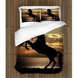 Спално бельо със завивка Кон - Horse