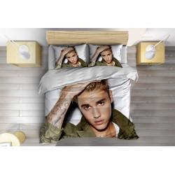 Комплект Чаршафи със завивка с Джъстин Бийбър - Justin Bieber White