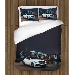 Комплект чаршафи със завивка с коли Мерцедес в града - Mercedes In Town