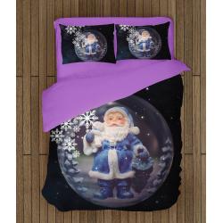 3D спално бельо със завивка за Коледа - Коледна нощ - Christmas Night