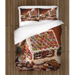 Коледни чаршафи със завивка Коледна захарна къщичка - Christmas Candy House