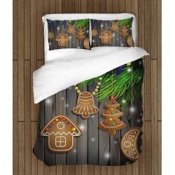 3D спално бельо със завивка Коледни бисквитки - Christmas Cookies