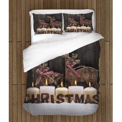 Коледно спално бельо със завивка Коледни еленчета - Christmas Deers