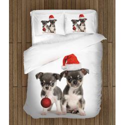 Коледен спален комплект Коледни кученца - Christmas Puppies